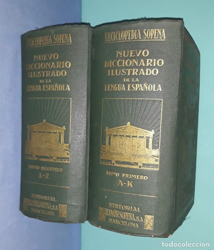 ENCICLOPEDIA SOPENA NUEVO DICCIONARIO ILUSTRADO DE LA LENGUA ESPAÑOLA AÑO 1935 (Libros Antiguos, Raros y Curiosos - Enciclopedias)