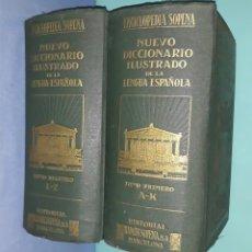 Enciclopedias antiguas: ENCICLOPEDIA SOPENA NUEVO DICCIONARIO ILUSTRADO DE LA LENGUA ESPAÑOLA AÑO 1935. Lote 227216450