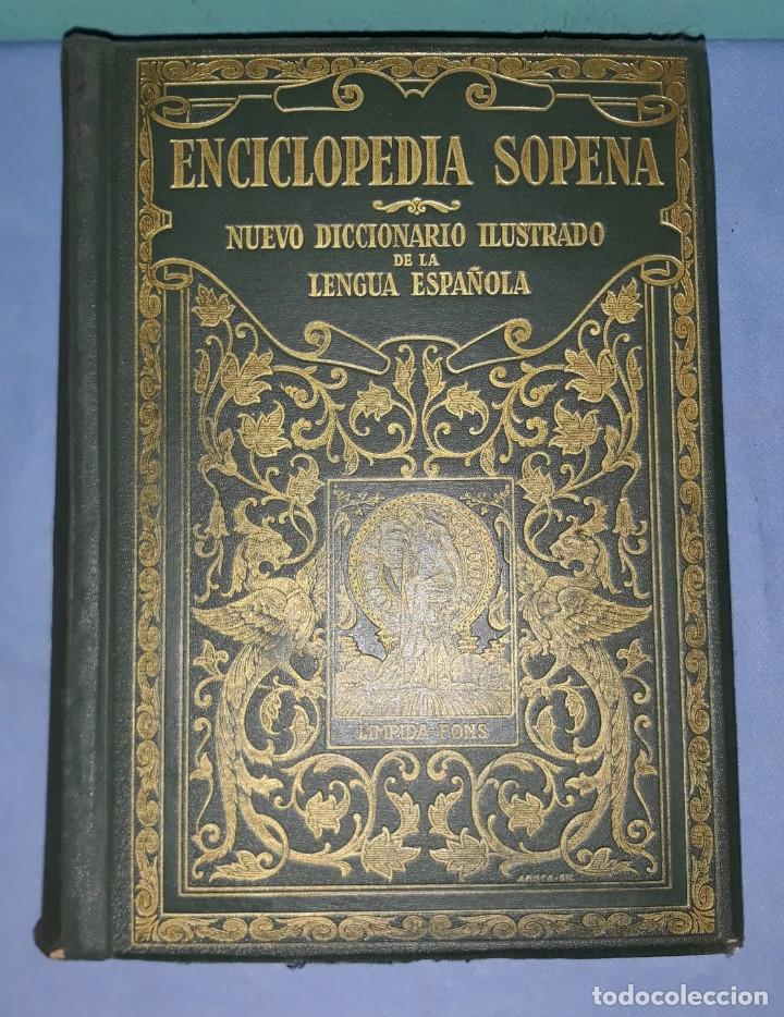 Enciclopedias antiguas: ENCICLOPEDIA SOPENA NUEVO DICCIONARIO ILUSTRADO DE LA LENGUA ESPAÑOLA AÑO 1935 - Foto 3 - 227216450
