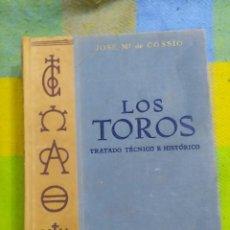 Enciclopedias antiguas: LOS TOROS, TRATADO TEÓRICO E HISTÓRICO. JOSÉ MARÍA DE COSSÍO.. Lote 213887887