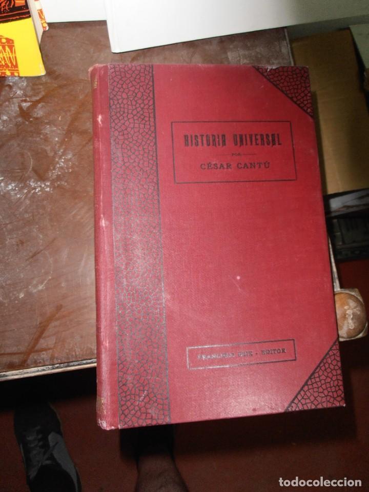 Enciclopedias antiguas: HISTORIA UNIVERSAL, DE CESAR CANTU. FRANCISCO SEIX EDITOR EN 1903 VOLÚMENES 5 / 6 / 7 / 8 - Foto 2 - 215842267