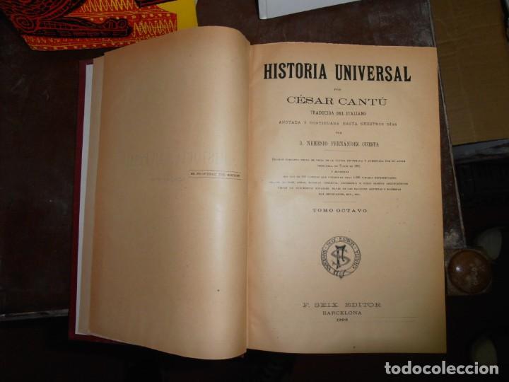 Enciclopedias antiguas: HISTORIA UNIVERSAL, DE CESAR CANTU. FRANCISCO SEIX EDITOR EN 1903 VOLÚMENES 5 / 6 / 7 / 8 - Foto 4 - 215842267