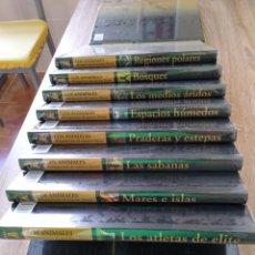 Enciclopedias antiguas: LOS ANIMALES, 10 TOMOS, SIN DESPRECINTAR. Lote 217220458