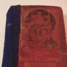 Enciclopedias antiguas: 1914-ENCICLOPEDIA ABREVIADA NUEVO DICCIONARIO MANUAL ILUSTRADO DE LA LENGUA ESPAÑOLA. Lote 217487545
