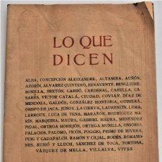 Enciclopedias antiguas: LO QUE DICEN SOBRE EL DICCIONARIO ENCICLOPÉDICO HISPANO-AMERICANO 1923 . UNAMUNO, CAJAL, AZORÍN,.... Lote 217933266