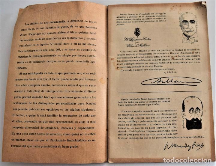 Enciclopedias antiguas: LO QUE DICEN SOBRE EL DICCIONARIO ENCICLOPÉDICO HISPANO-AMERICANO 1923 . UNAMUNO, CAJAL, AZORÍN,... - Foto 3 - 217933266