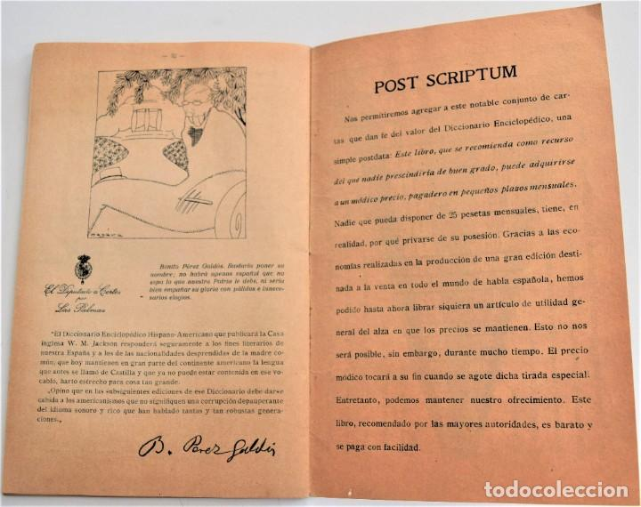 Enciclopedias antiguas: LO QUE DICEN SOBRE EL DICCIONARIO ENCICLOPÉDICO HISPANO-AMERICANO 1923 . UNAMUNO, CAJAL, AZORÍN,... - Foto 5 - 217933266