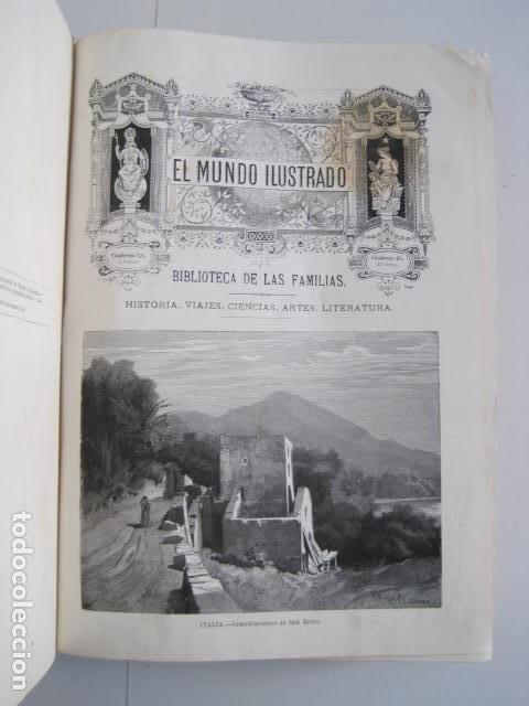 Enciclopedias antiguas: EL MUNDO ILUSTRADO. SEGUNDA SERIE. TOMOS 1, 2, 3 Y 4. HISTORIA, CIENCIAS, ARTES, LITERATURA. - Foto 21 - 219396043