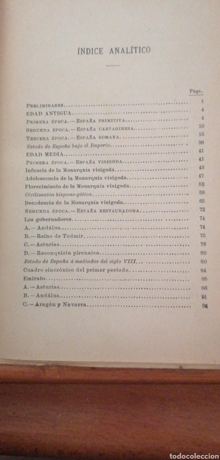 Enciclopedias antiguas: PRONTUARIO DE HISTORIA DE ESPAÑA AÑO DE EDICIÓN 1900 - Foto 5 - 221445870