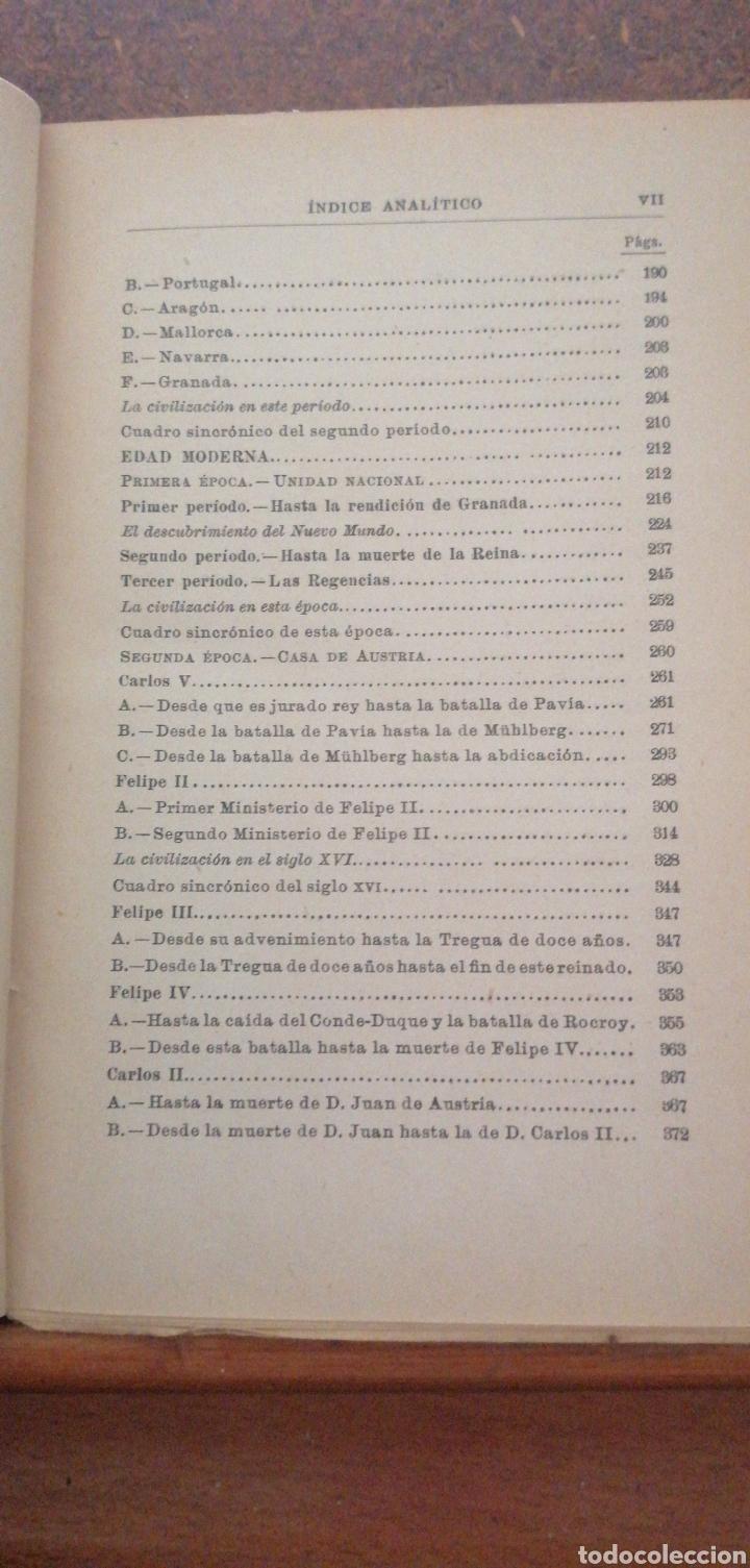 Enciclopedias antiguas: PRONTUARIO DE HISTORIA DE ESPAÑA AÑO DE EDICIÓN 1900 - Foto 7 - 221445870