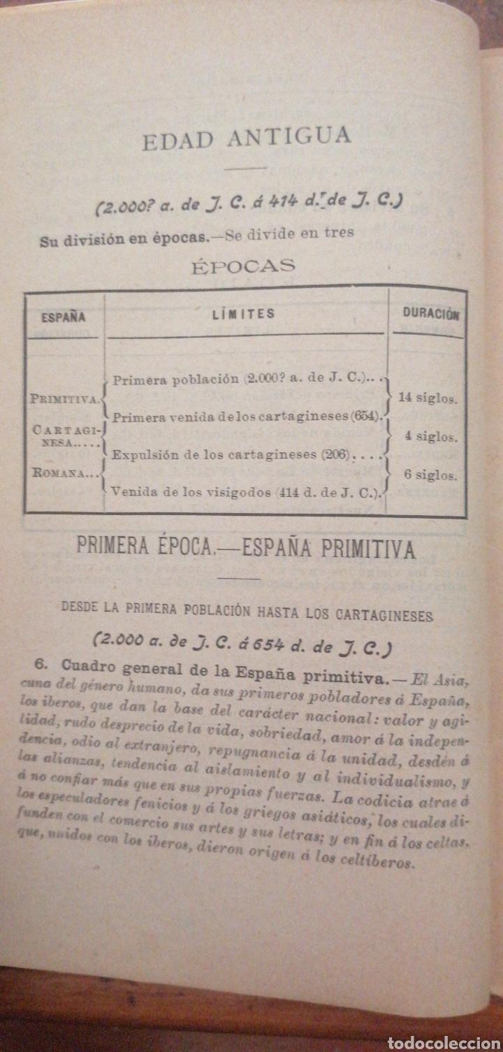 Enciclopedias antiguas: PRONTUARIO DE HISTORIA DE ESPAÑA AÑO DE EDICIÓN 1900 - Foto 10 - 221445870