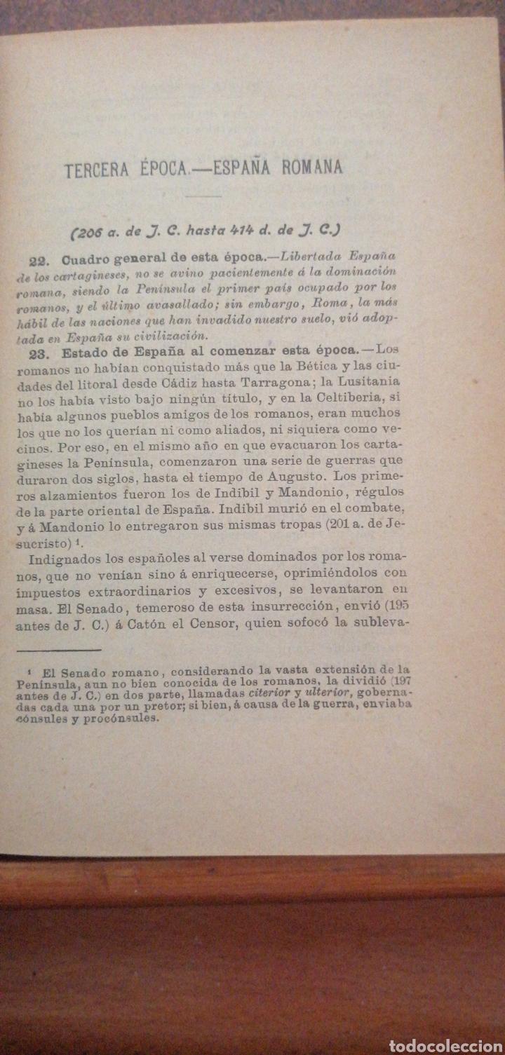 Enciclopedias antiguas: PRONTUARIO DE HISTORIA DE ESPAÑA AÑO DE EDICIÓN 1900 - Foto 12 - 221445870