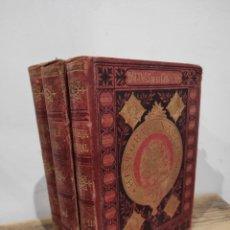 Enciclopedias antiguas: 1888. PÁGINAS DE LA CREACIÓN. ENCICLOPEDIA DE HISTORIA NATURAL. GRABADOS. 3 VOLS.. Lote 233017815