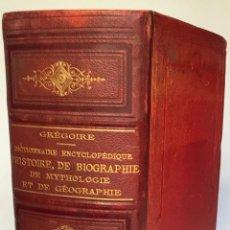 Enciclopedias antiguas: DICTIONNAIRE ENCYCLOPÉDIQUE D'HISTOIRE, DE BIOGRAPHIE DE MYTHOLOGIE ET DE GÉOGRAPHIE.. Lote 237454445