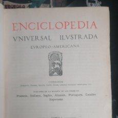 Enciclopedias antiguas: (1908 EDICION HISTORICA) ENCICLOPEDIA UNIVERSAL ILUSTRADA EUROPEO- AMERICANA,TOMO I JOSE ESPASA. Lote 243183005