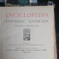 Enciclopedias antiguas: (1908 EDICION HISTORICA) ENCICLOPEDIA UNIVERSAL ILUSTRADA EUROPEO- AMERICANA,TOMO II JOSE ESPASA. Lote 243186185