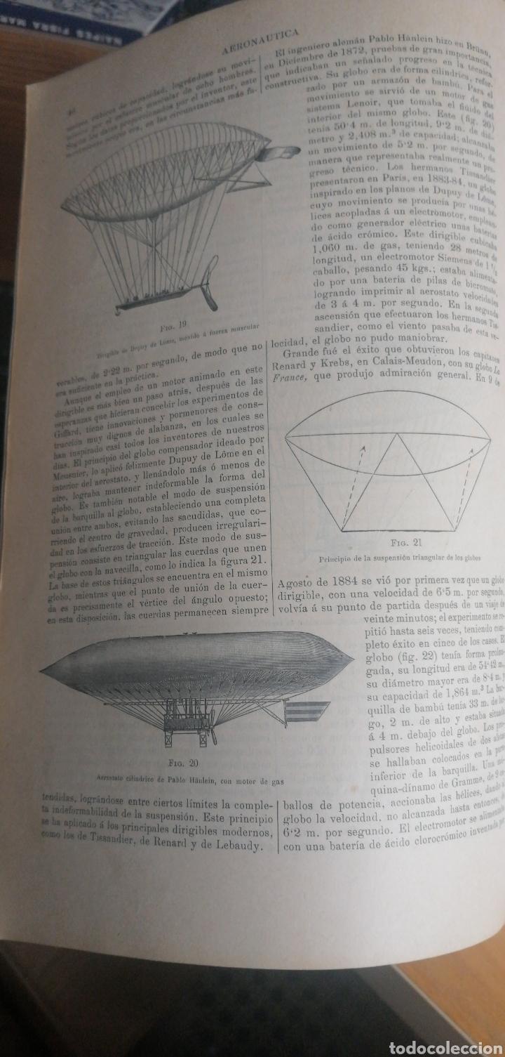 Enciclopedias antiguas: (1908 Edicion Historica) Enciclopedia Universal Ilustrada Europeo- Americana,Tomo III Aeronautica - Foto 6 - 243213250