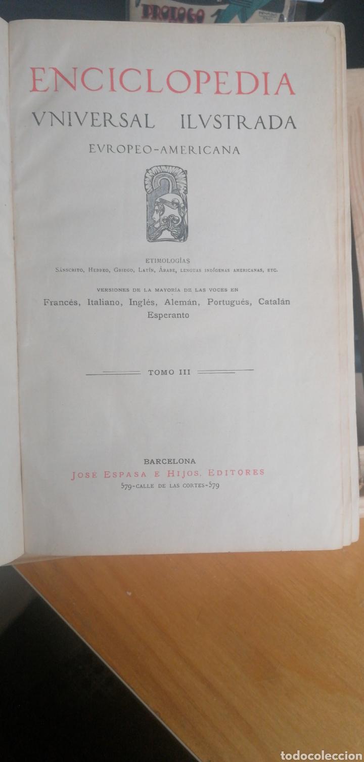 (1908 EDICION HISTORICA) ENCICLOPEDIA UNIVERSAL ILUSTRADA EUROPEO- AMERICANA,TOMO III AERONAUTICA (Libros Antiguos, Raros y Curiosos - Enciclopedias)