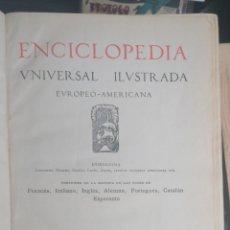 Enciclopedias antiguas: (1908 EDICION HISTORICA) ENCICLOPEDIA UNIVERSAL ILUSTRADA EUROPEO- AMERICANA,TOMO III AERONAUTICA. Lote 243213250