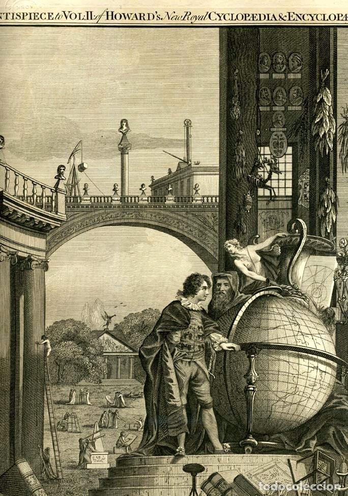 Enciclopedias antiguas: The New Royal Cyclopaedia, and Encyclopaedia... 3 tomos, 1788. G. Selby Howard/Hogg. 160 grabados - Foto 2 - 243794590
