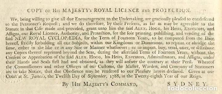 Enciclopedias antiguas: The New Royal Cyclopaedia, and Encyclopaedia... 3 tomos, 1788. G. Selby Howard/Hogg. 160 grabados - Foto 9 - 243794590