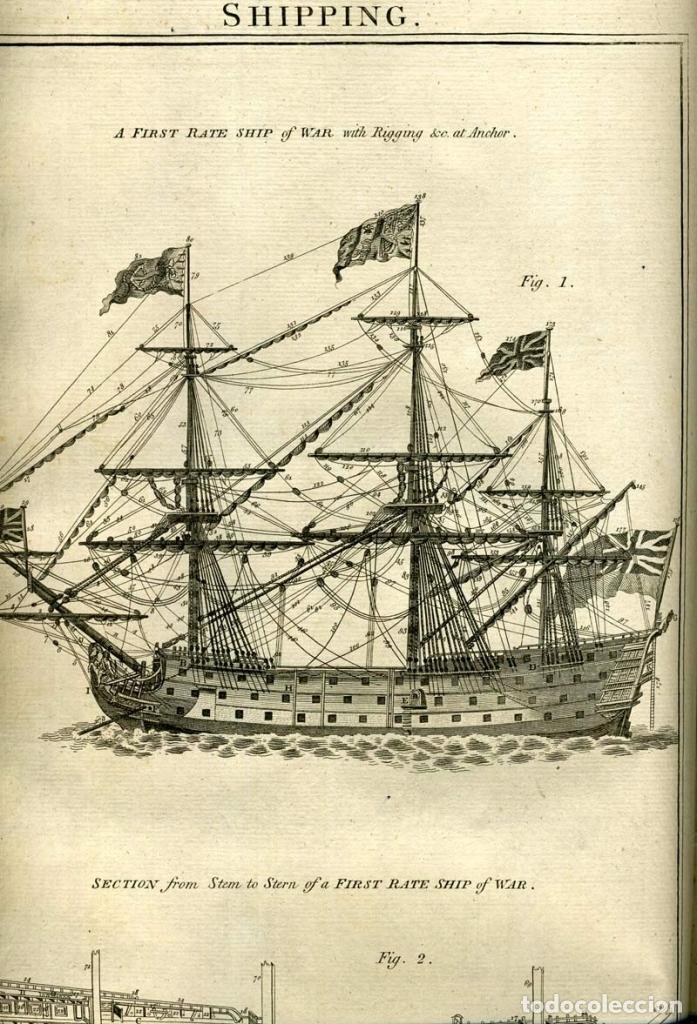Enciclopedias antiguas: The New Royal Cyclopaedia, and Encyclopaedia... 3 tomos, 1788. G. Selby Howard/Hogg. 160 grabados - Foto 19 - 243794590