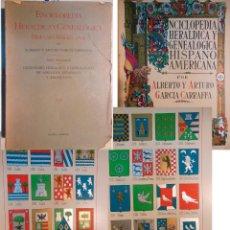Enciclopedias antiguas: ENCICLOPEDIA HERALDICA Y GENEALOGICA HISPANO AMERICANA. T 25 (CLAVERIA A CUTUNEGUIETA) 1927. Lote 244537090
