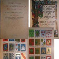 Enciclopedias antiguas: ENCICLOPEDIA HERALDICA Y GENEALOGICA HISPANO AMERICANA. T 56 (GARCIA Y PORTILLA A FERNANDEZ... 1930. Lote 244537465