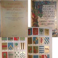 Enciclopedias antiguas: ENCICLOPEDIA HERALDICA Y GENEALOGICA HISPANO AMERICANA. T 13 (BASANTA O BASANTE A BENAVIDES)1924. Lote 244537710