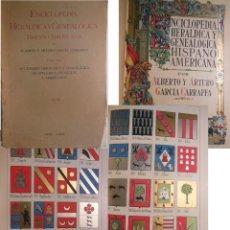 Enciclopedias antiguas: ENCICLOPEDIA HERALDICA Y GENEALOGICA HISPANO AMERICANA. T 8 (ARAGONES A ARECHA) 1921. Lote 244538020