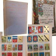 Enciclopedias antiguas: ENCICLOPEDIA HERALDICA Y GENEALOGICA HISPANO AMERICANA. T 4 (ALCOCES A ALMUSANA) 1921. Lote 244538155