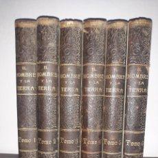 Enciclopedias antiguas: EL HOMBRE Y LA TIERRA, DE ELISEO ROCA. Lote 245095950