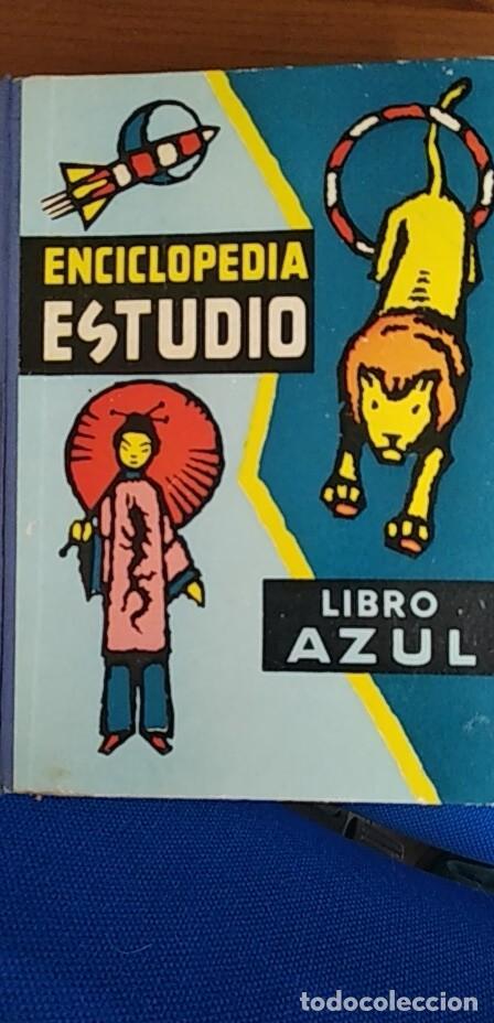 ENCICLOPEDIA DE ESTUDIO LIBRO AZUL (Libros Antiguos, Raros y Curiosos - Enciclopedias)
