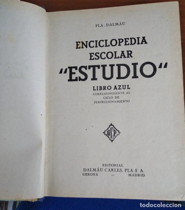 Enciclopedias antiguas: ENCICLOPEDIA DE ESTUDIO LIBRO AZUL - Foto 3 - 246477405