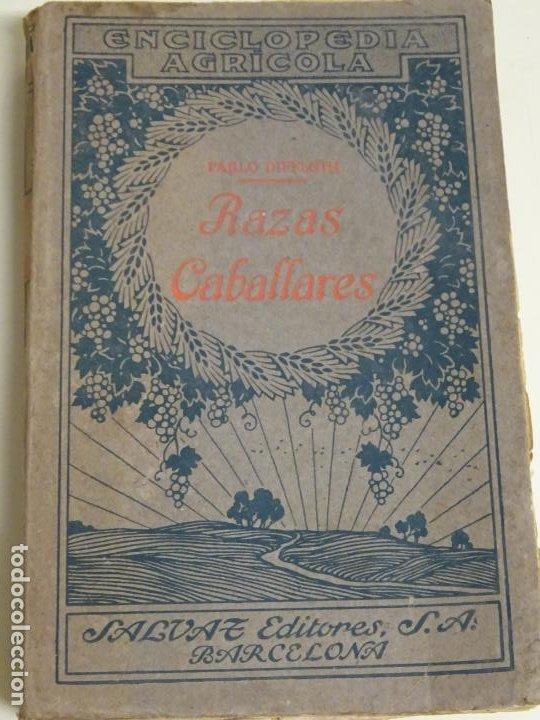 LIBRO ENCICLOPEDIA AGRÍCOLA RAZAS CABALLARES CABALLOS SALVAT EDITORES BARCELONA AÑO 1927 527P. 560GR (Libros Antiguos, Raros y Curiosos - Enciclopedias)