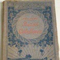 Enciclopedias antiguas: LIBRO ENCICLOPEDIA AGRÍCOLA RAZAS CABALLARES CABALLOS SALVAT EDITORES BARCELONA AÑO 1927 527P. 560GR. Lote 254939175