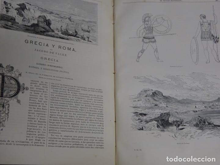 Enciclopedias antiguas: LIBRO TOMO ENCICLOPÉDICO SIGLO XIX AÑO 1879. EL MUNDO ILUSTRADO 2. GRECIA ROMA EGIPTO 768PAG. 3,5KG - Foto 13 - 254943355