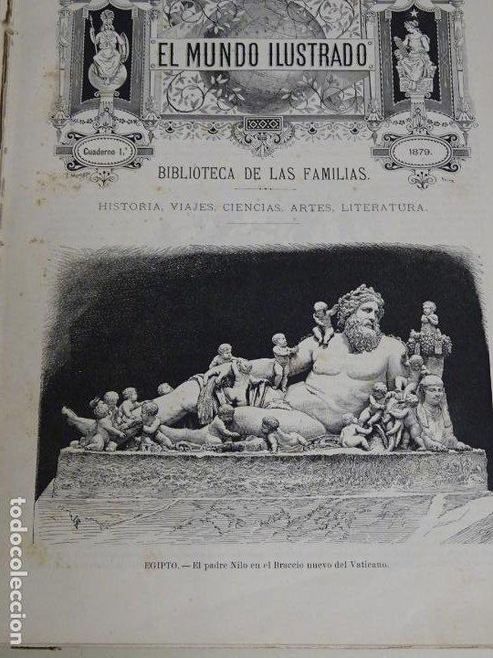 Enciclopedias antiguas: LIBRO TOMO ENCICLOPÉDICO SIGLO XIX AÑO 1879. EL MUNDO ILUSTRADO 1. MARRUECOS EGIPTO 774PAG. 3,5KG - Foto 2 - 254988715