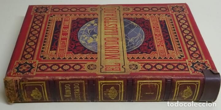Enciclopedias antiguas: LIBRO TOMO ENCICLOPÉDICO SIGLO XIX AÑO 1879. EL MUNDO ILUSTRADO 1. MARRUECOS EGIPTO 774PAG. 3,5KG - Foto 3 - 254988715