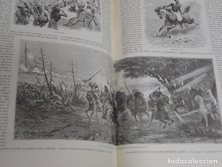 Enciclopedias antiguas: LIBRO TOMO ENCICLOPÉDICO SIGLO XIX AÑO 1879. EL MUNDO ILUSTRADO 1. MARRUECOS EGIPTO 774PAG. 3,5KG - Foto 4 - 254988715