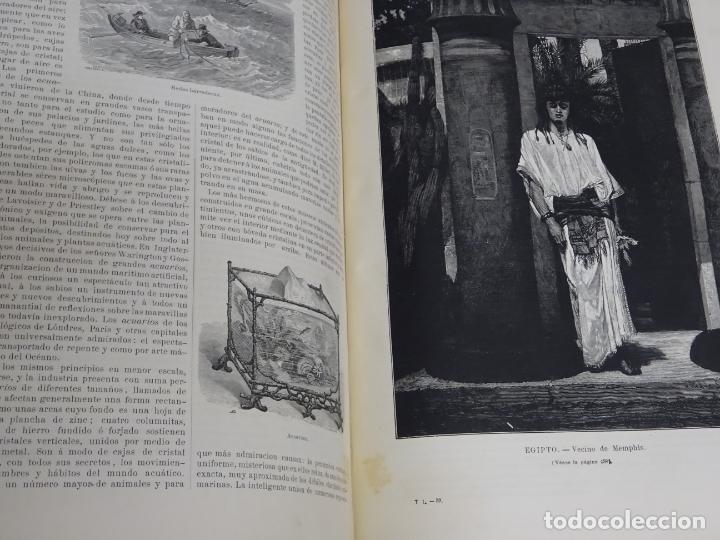 Enciclopedias antiguas: LIBRO TOMO ENCICLOPÉDICO SIGLO XIX AÑO 1879. EL MUNDO ILUSTRADO 1. MARRUECOS EGIPTO 774PAG. 3,5KG - Foto 5 - 254988715
