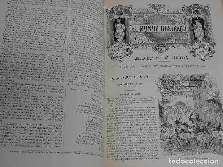Enciclopedias antiguas: LIBRO TOMO ENCICLOPÉDICO SIGLO XIX AÑO 1879. EL MUNDO ILUSTRADO 1. MARRUECOS EGIPTO 774PAG. 3,5KG - Foto 7 - 254988715