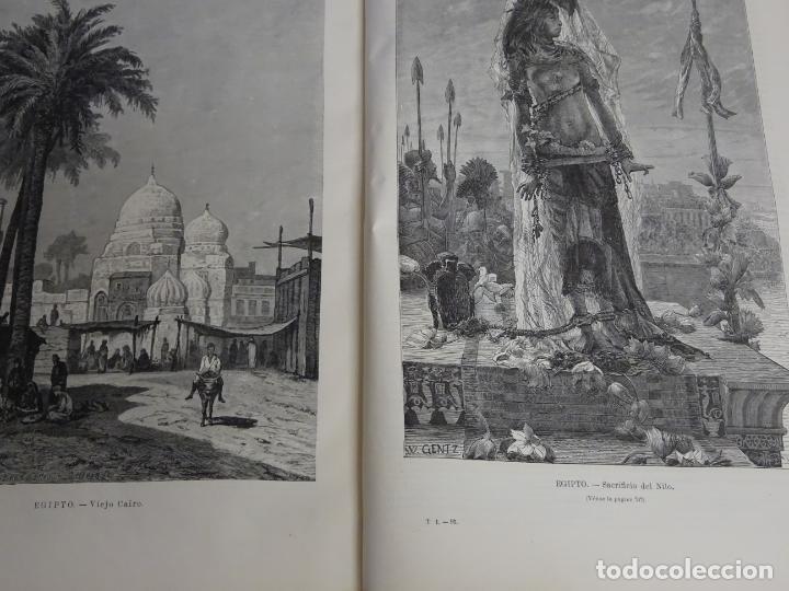 Enciclopedias antiguas: LIBRO TOMO ENCICLOPÉDICO SIGLO XIX AÑO 1879. EL MUNDO ILUSTRADO 1. MARRUECOS EGIPTO 774PAG. 3,5KG - Foto 12 - 254988715