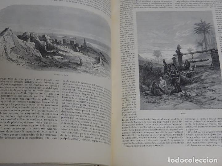 Enciclopedias antiguas: LIBRO TOMO ENCICLOPÉDICO SIGLO XIX AÑO 1879. EL MUNDO ILUSTRADO 1. MARRUECOS EGIPTO 774PAG. 3,5KG - Foto 13 - 254988715
