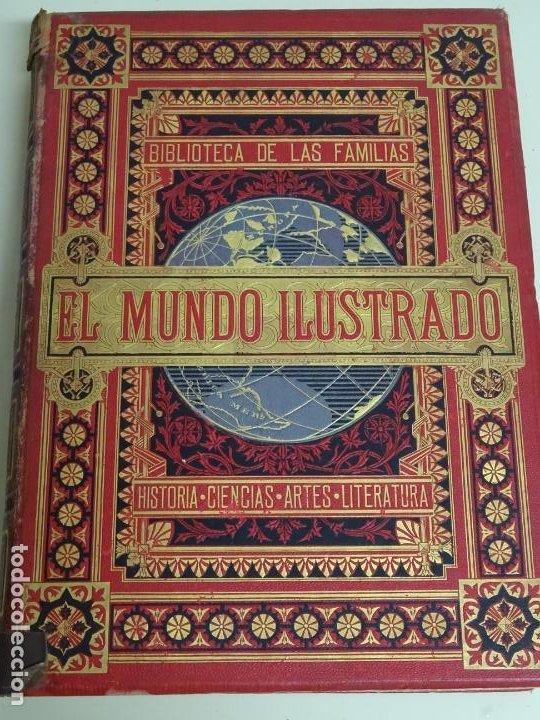 LIBRO TOMO ENCICLOPÉDICO SIGLO XIX AÑO 1879. EL MUNDO ILUSTRADO 1. MARRUECOS EGIPTO 774PAG. 3,5KG (Libros Antiguos, Raros y Curiosos - Enciclopedias)