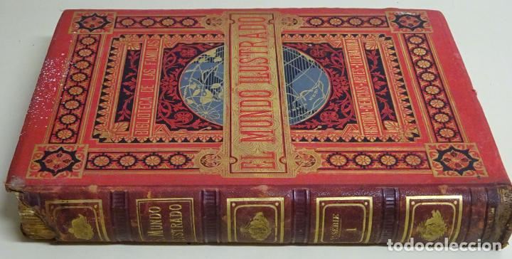 Enciclopedias antiguas: LIBRO TOMO ENCICLOPÉDICO SIGLO XIX AÑO 1879-81. EL MUNDO ILUSTRADO 5. ITALIA CONSTANTI 774PAG. 3,5KG - Foto 2 - 254990380