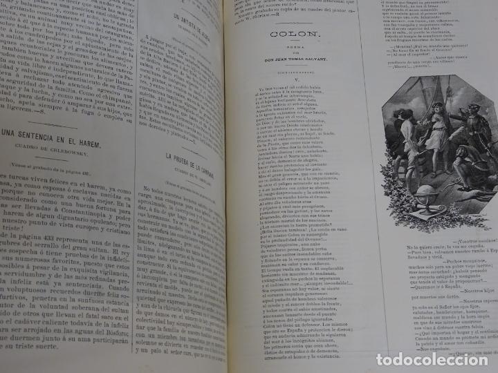 Enciclopedias antiguas: LIBRO TOMO ENCICLOPÉDICO SIGLO XIX AÑO 1879-81. EL MUNDO ILUSTRADO 5. ITALIA CONSTANTI 774PAG. 3,5KG - Foto 4 - 254990380