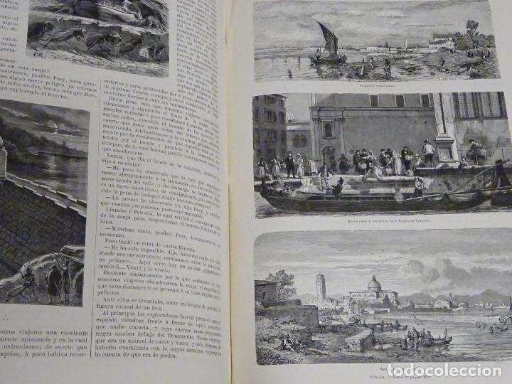 Enciclopedias antiguas: LIBRO TOMO ENCICLOPÉDICO SIGLO XIX AÑO 1879-81. EL MUNDO ILUSTRADO 5. ITALIA CONSTANTI 774PAG. 3,5KG - Foto 5 - 254990380
