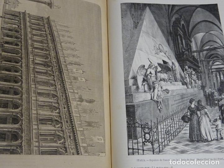Enciclopedias antiguas: LIBRO TOMO ENCICLOPÉDICO SIGLO XIX AÑO 1879-81. EL MUNDO ILUSTRADO 5. ITALIA CONSTANTI 774PAG. 3,5KG - Foto 6 - 254990380