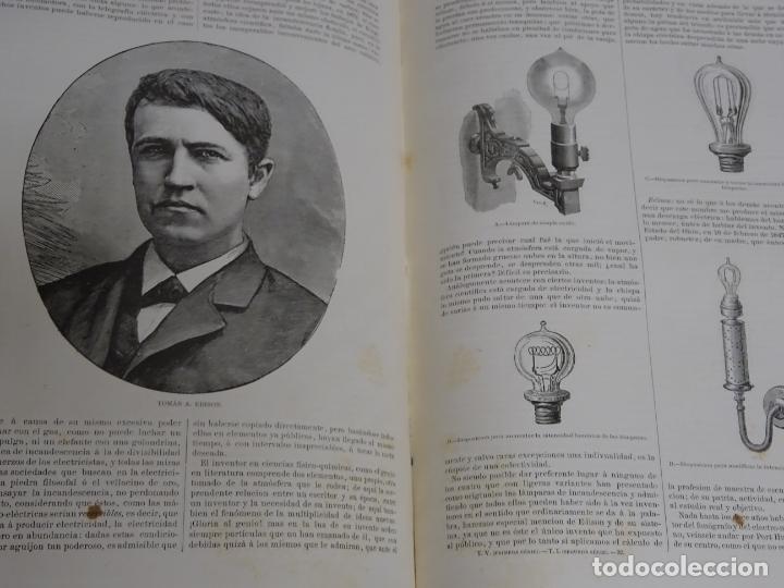 Enciclopedias antiguas: LIBRO TOMO ENCICLOPÉDICO SIGLO XIX AÑO 1879-81. EL MUNDO ILUSTRADO 5. ITALIA CONSTANTI 774PAG. 3,5KG - Foto 8 - 254990380